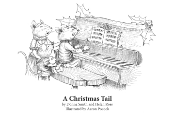 xmas tail colouring page.